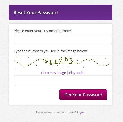 Reset Password page image